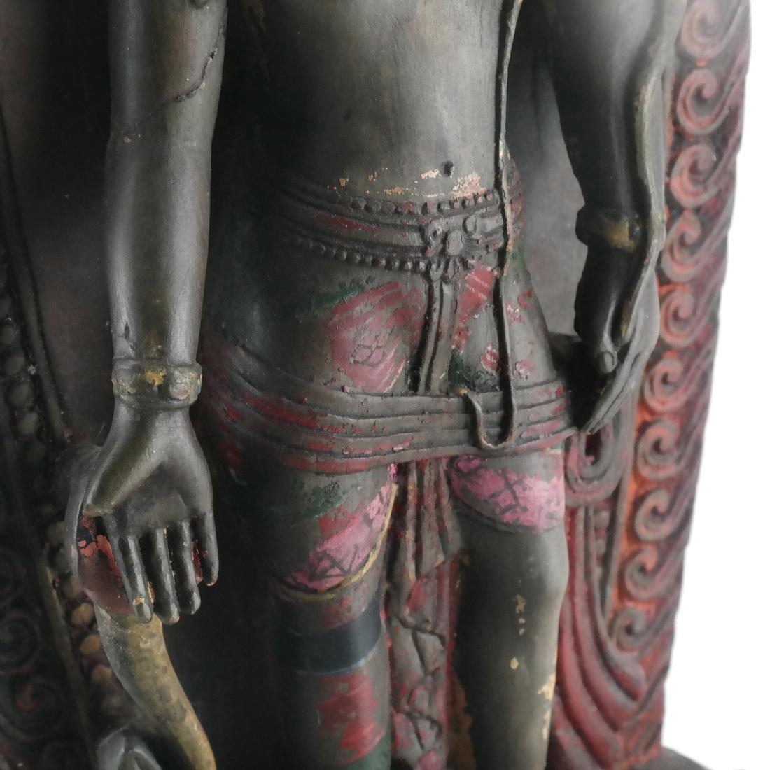 Nepalese Stone Buddha & Stand - 4