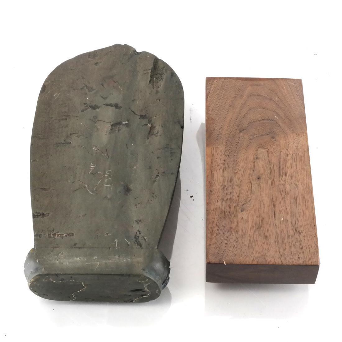 Nepalese Stone Buddha & Stand - 6