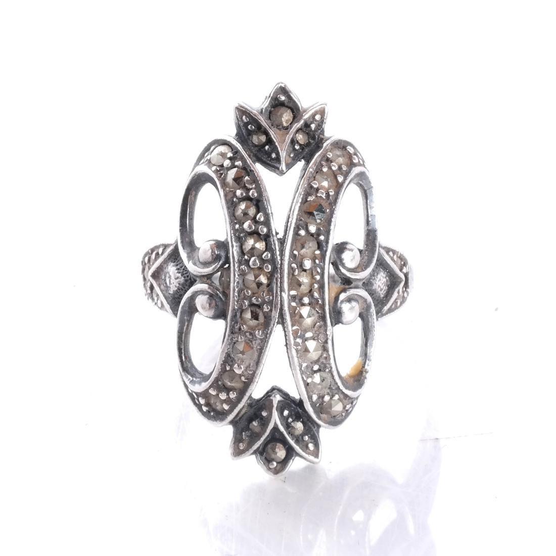.925 Sterling Silver & Diamond Ring
