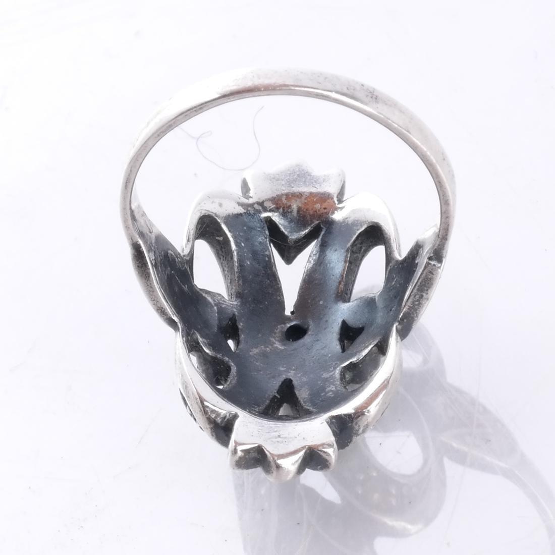 .925 Sterling Silver & Diamond Ring - 2