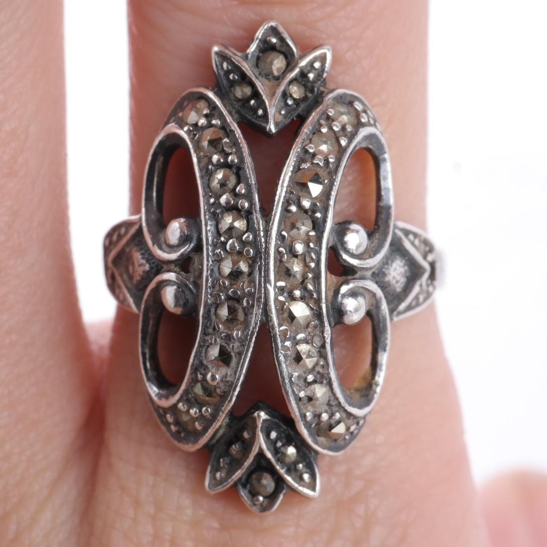 .925 Sterling Silver & Diamond Ring - 4