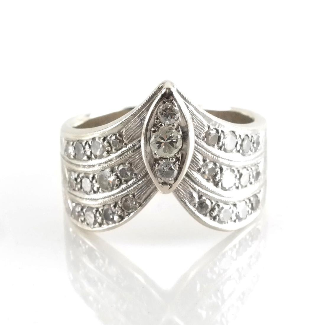14k WG & Diamond Cocktail Ring