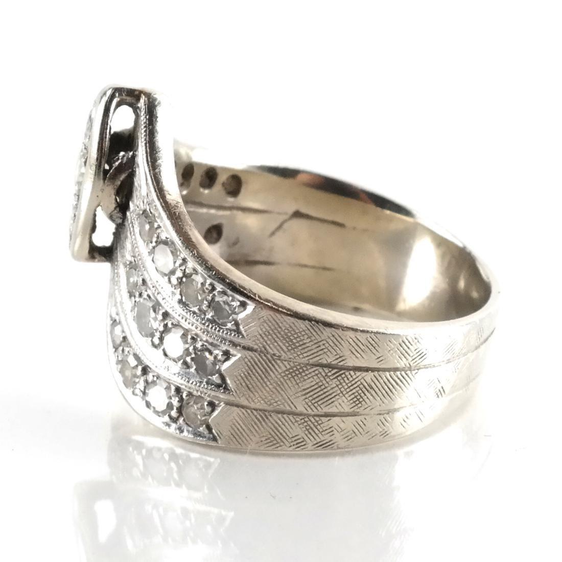 14k WG & Diamond Cocktail Ring - 2