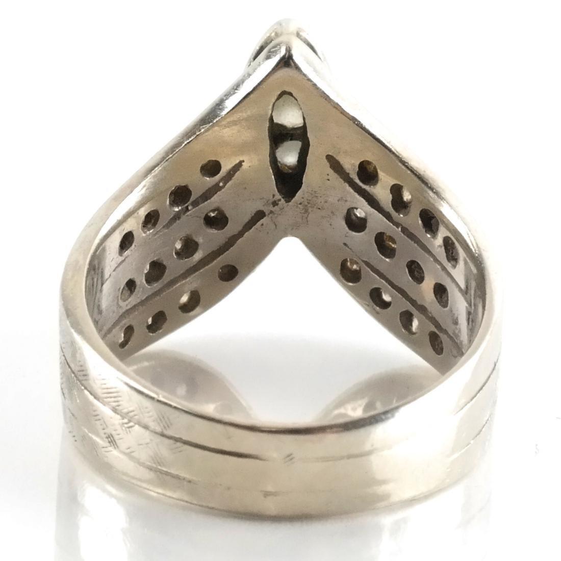14k WG & Diamond Cocktail Ring - 3