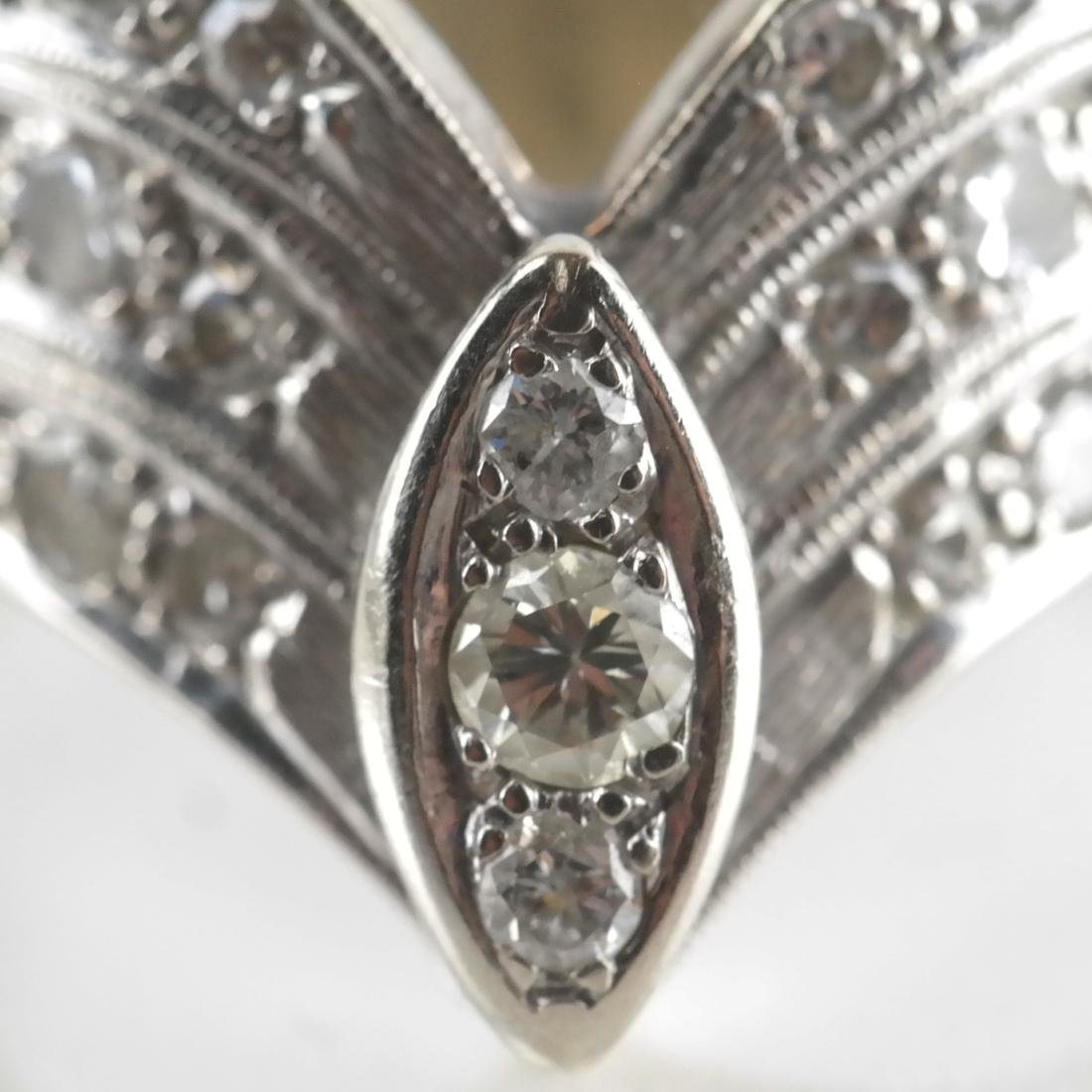 14k WG & Diamond Cocktail Ring - 5