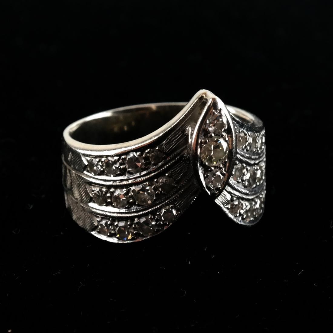 14k WG & Diamond Cocktail Ring - 7