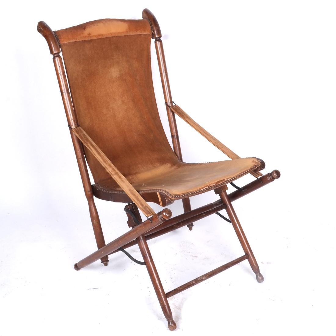Bamboo Folding Captain's Chair