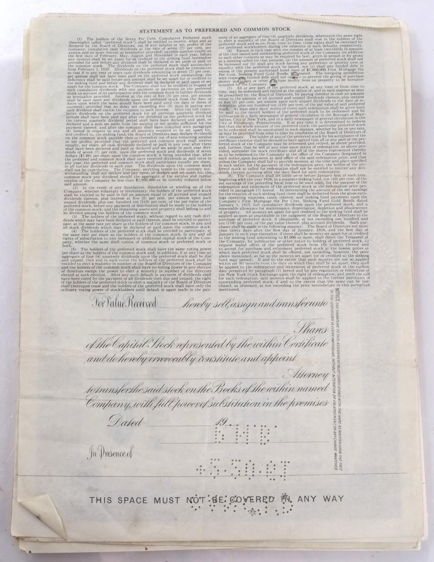 Stock Certificates: US Steel, Duquesne Light Co - 2