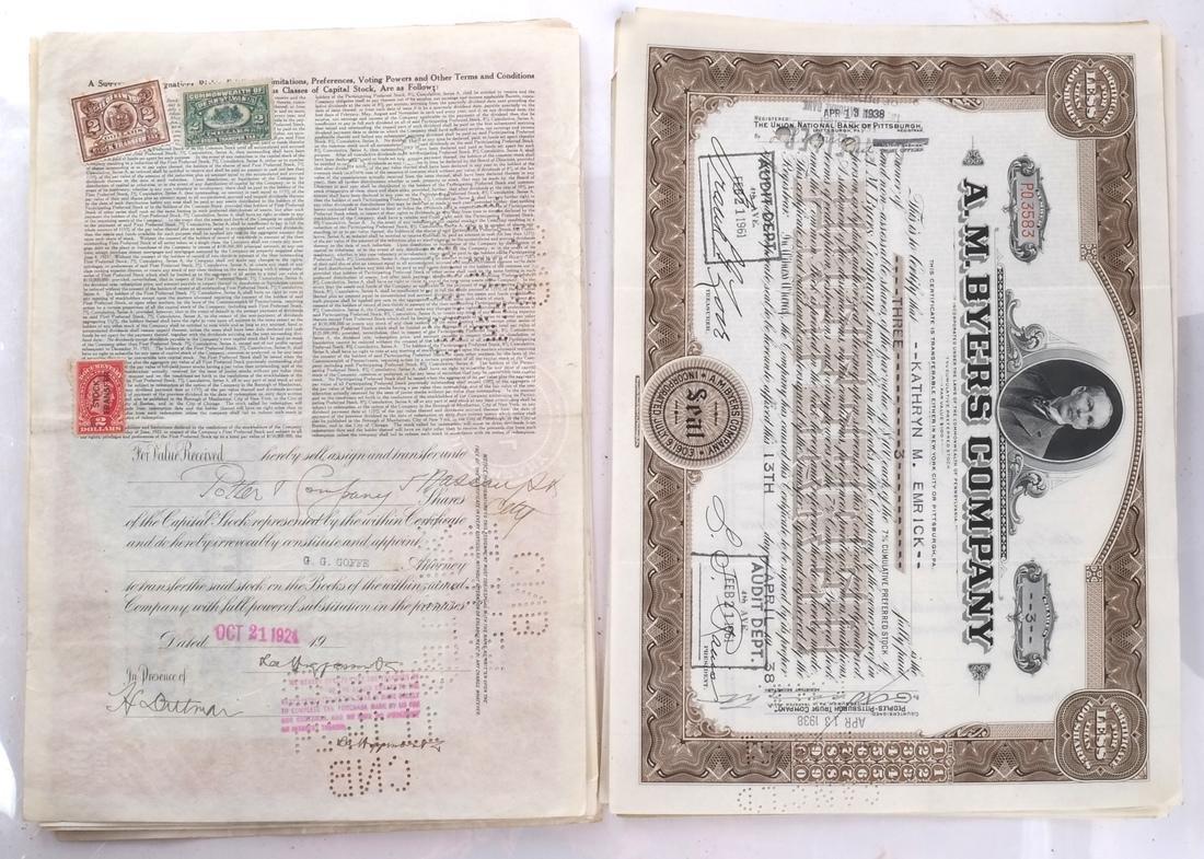 Stock Certificates: US Steel, Duquesne Light Co - 3