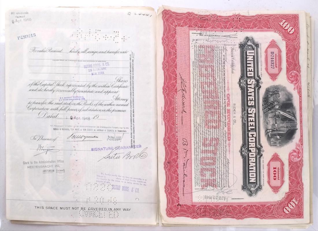 Stock Certificates: US Steel, Duquesne Light Co - 4