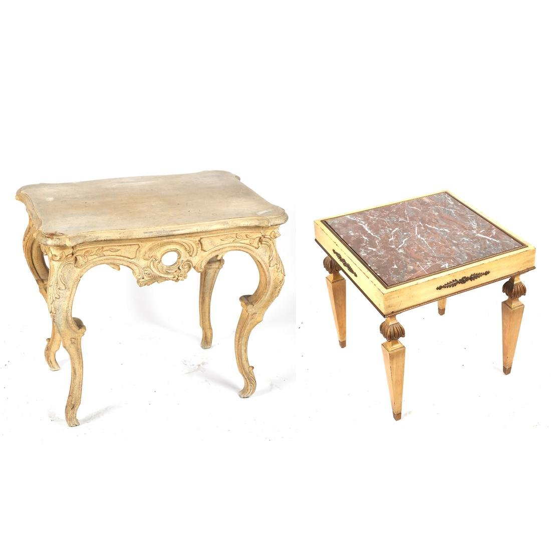 Two Decorated Tables