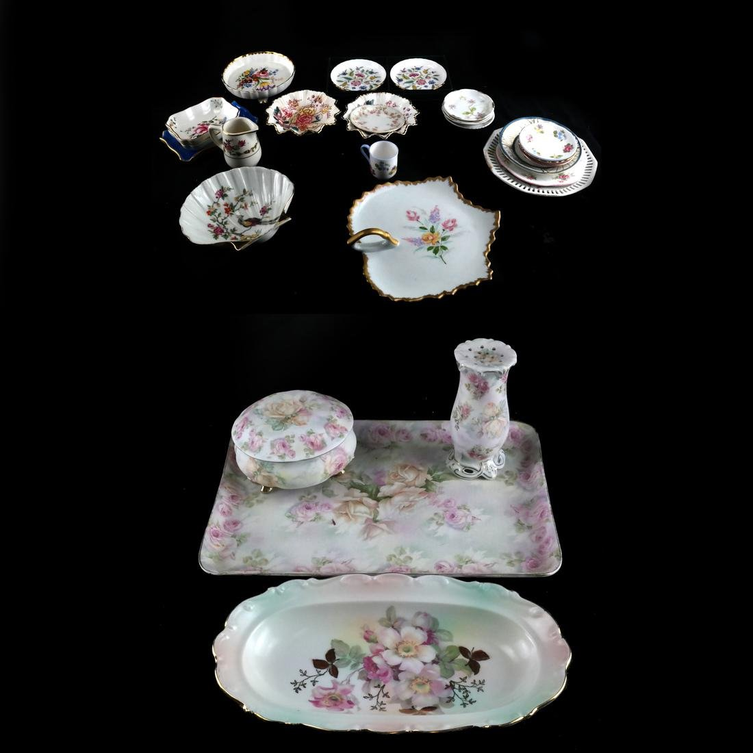 Mixed Group of Porcelain, Decorated Objects