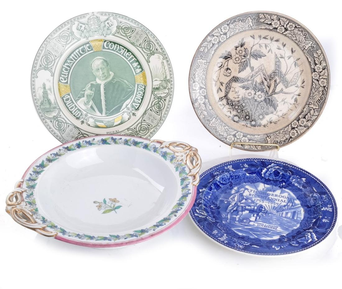 4 English Ironstone & Creamware Items