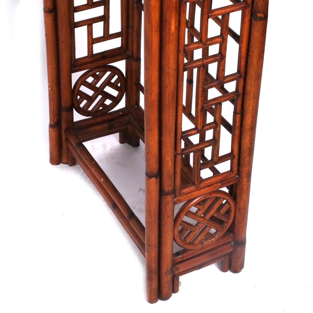 Chinese Rattan and Olivewood-Style Console - 4