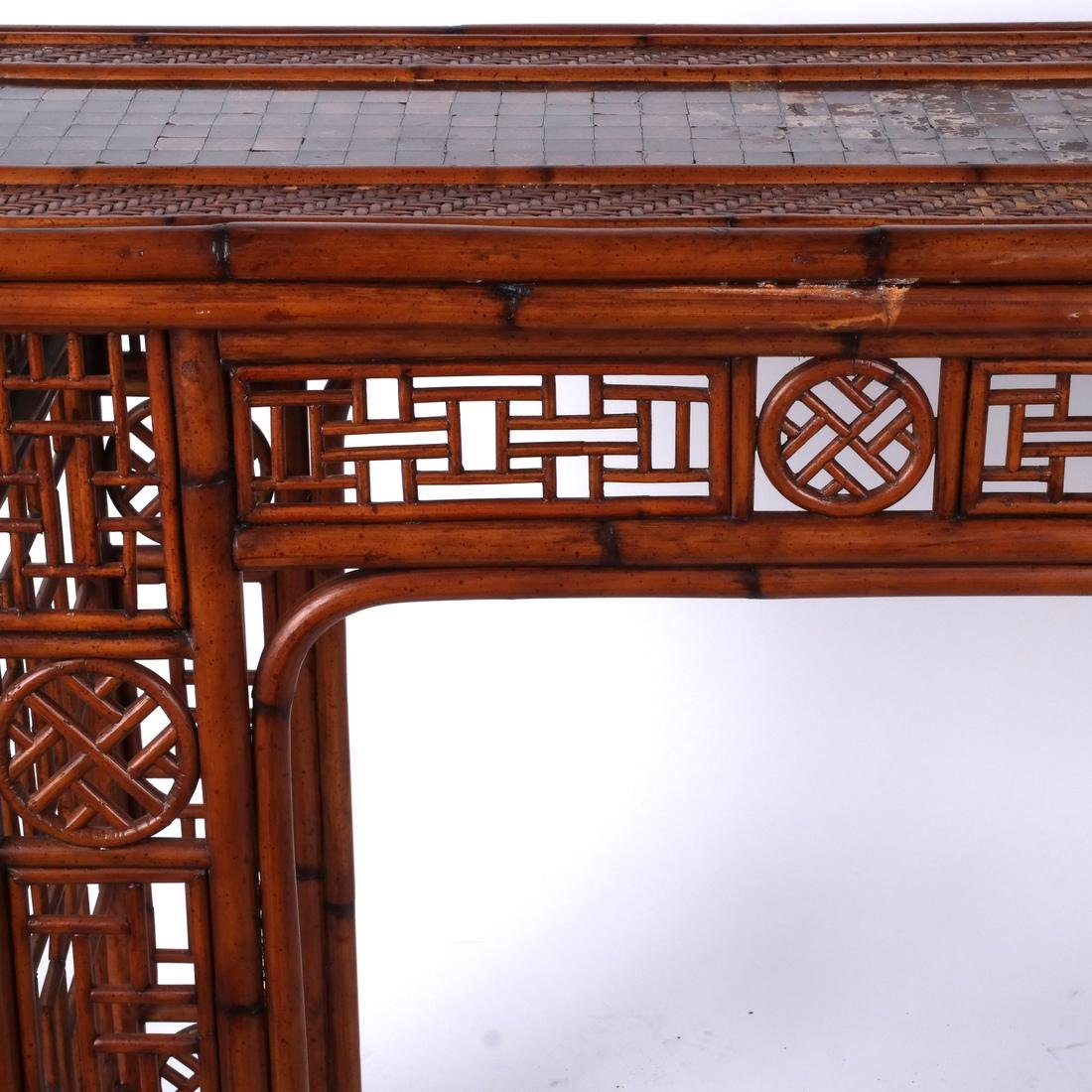 Chinese Rattan and Olivewood-Style Console - 5