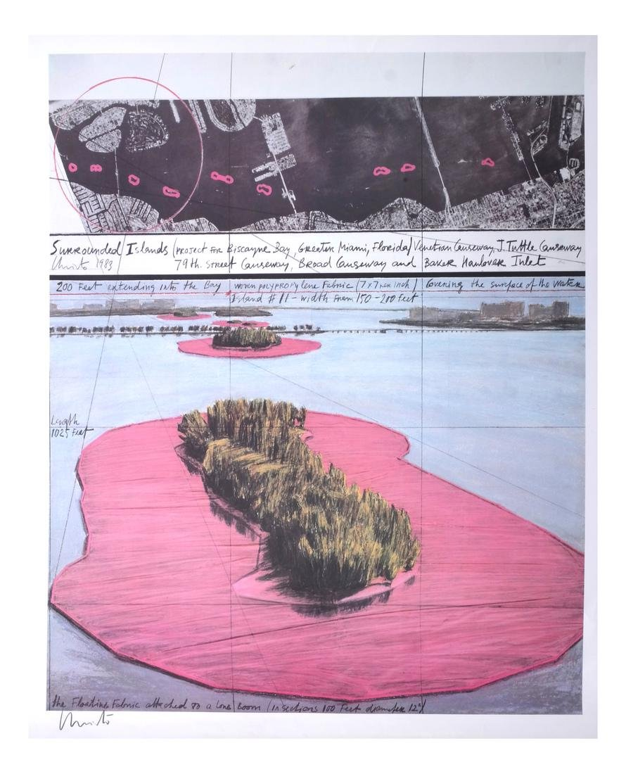 """Christo Litho """"Surrounded Islands"""""""