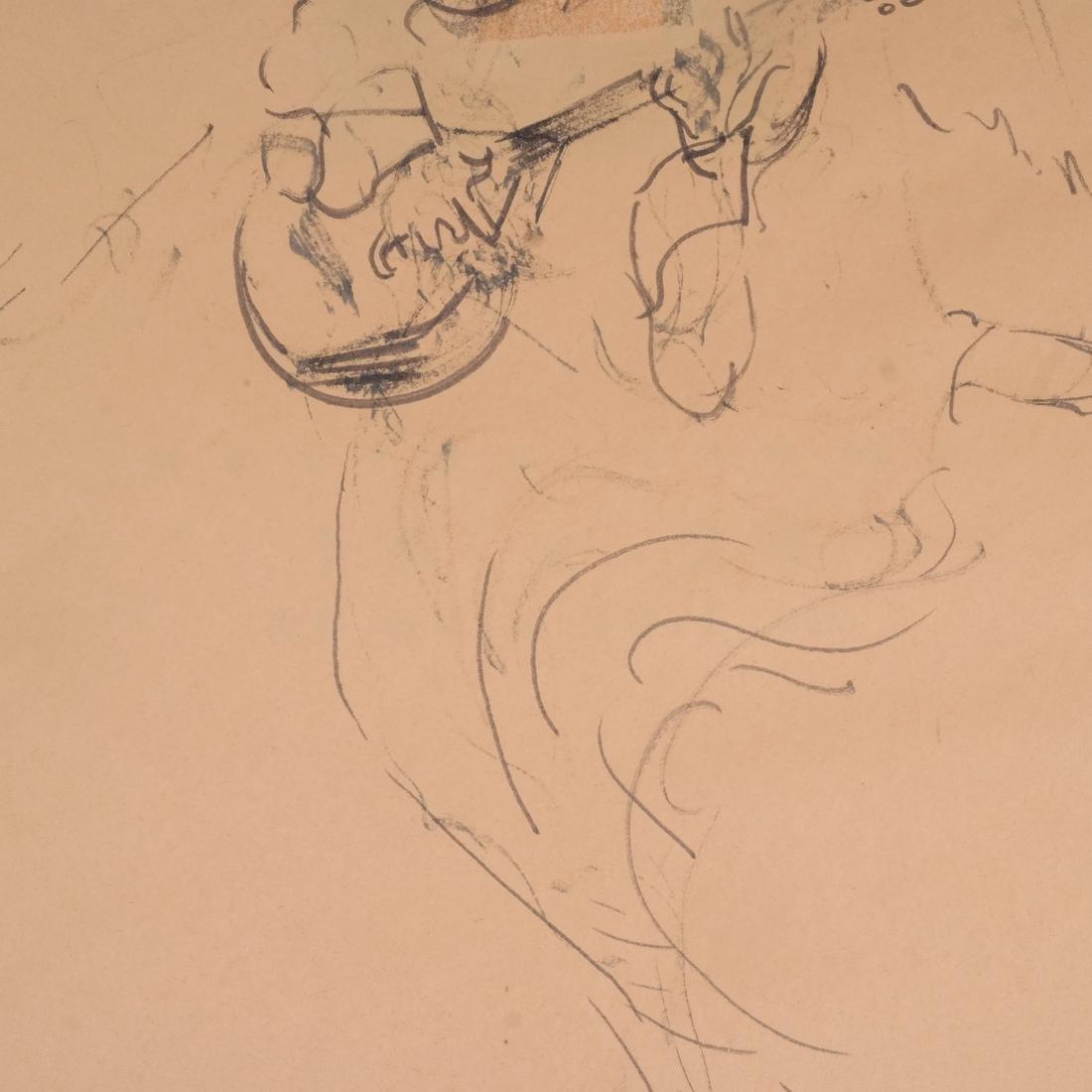 "Ted Anagnostaras Monoprint ""Angel"" - 5"