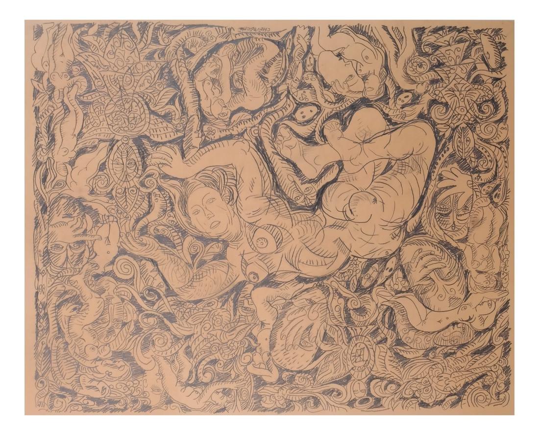 George Chemeche Graphite on Paper