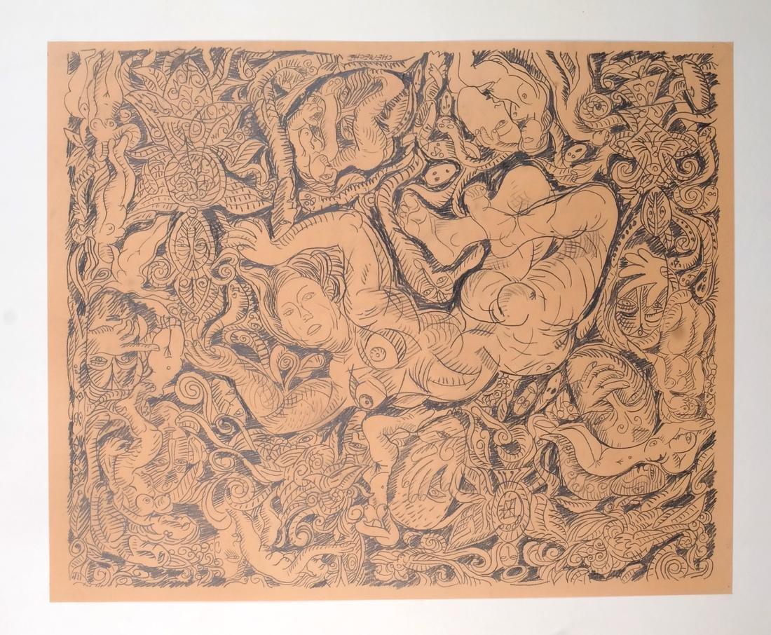 George Chemeche Graphite on Paper - 2