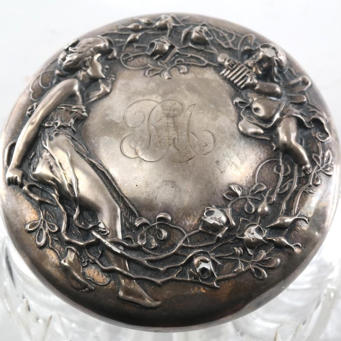 Sterling Silver Powder Jar - 2