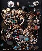 Bag of Semi-Precious Stones, etc