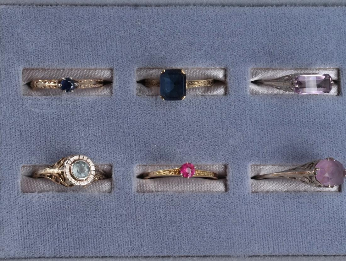Assortment 14k Yellow Gold Rings - 2