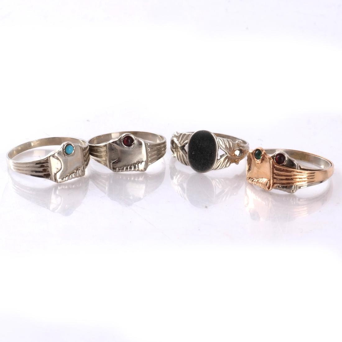 14k Baby's Rings in White and Yellow Gold - 2