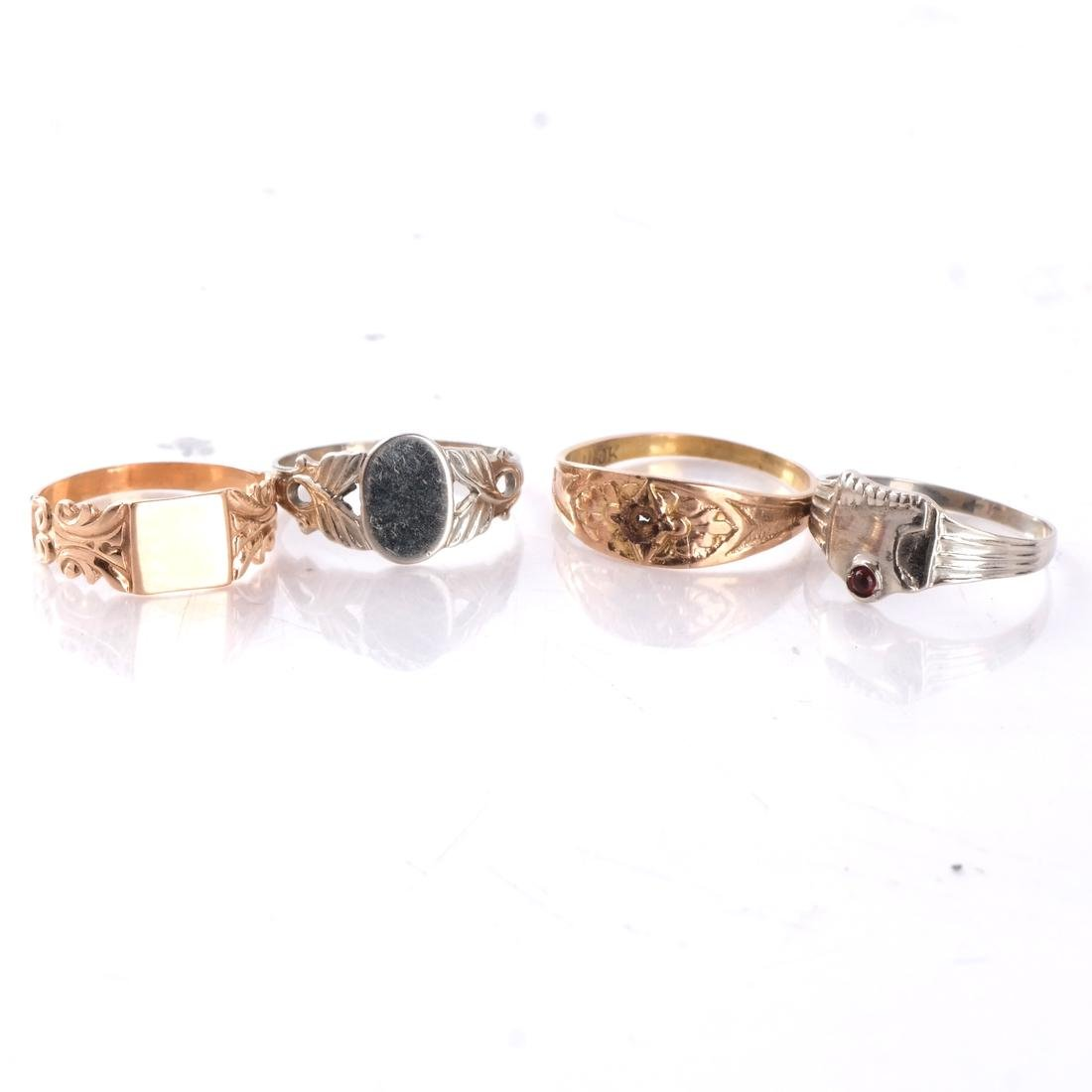 14k Baby's Rings in White and Yellow Gold - 3