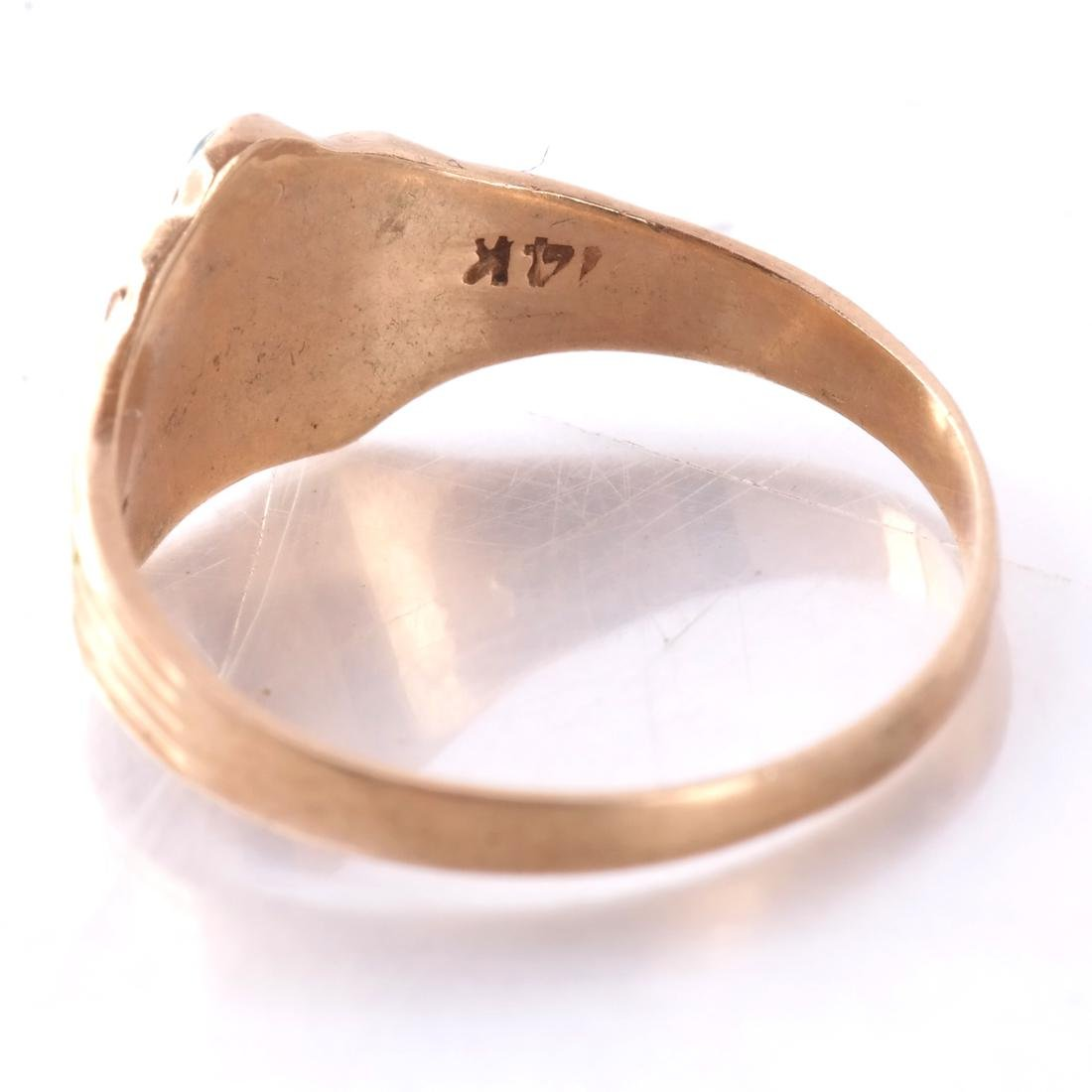 14k Baby's Rings in White and Yellow Gold - 5