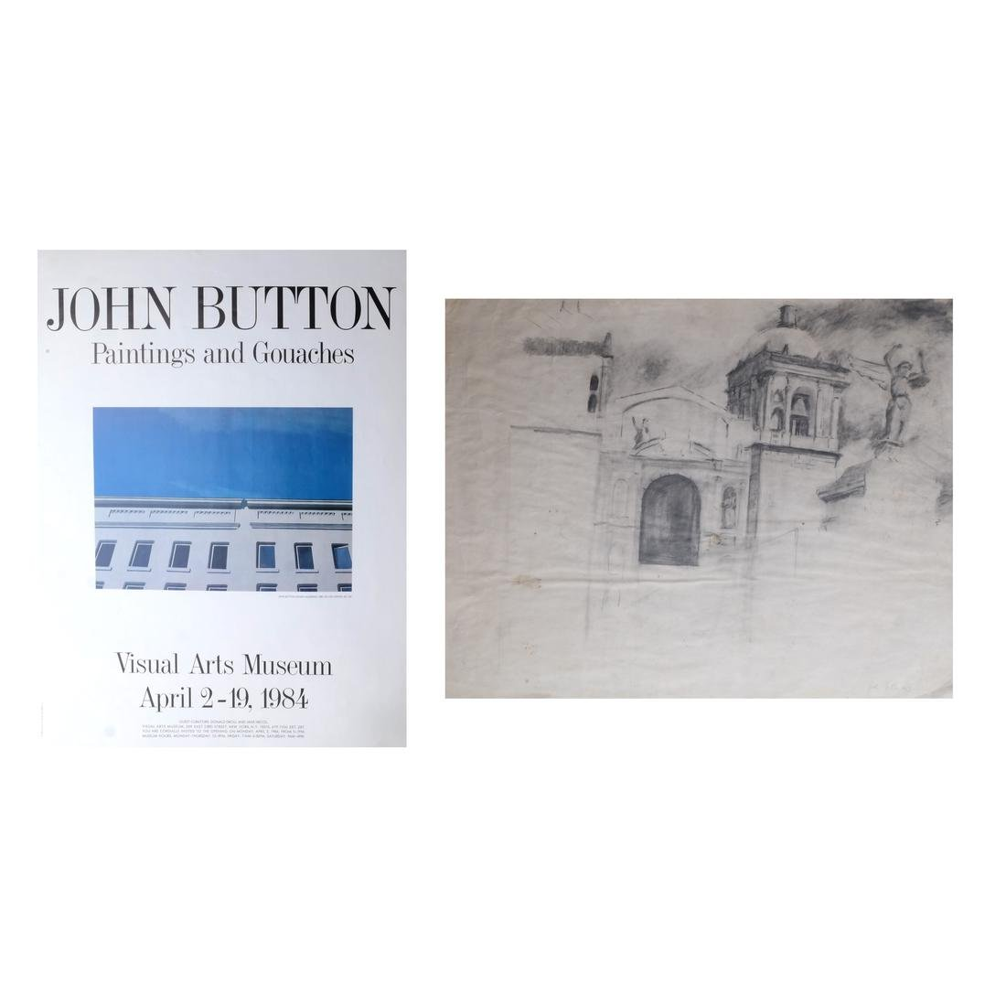 John Button (1929-1982) Drawing on Paper; 5 Others