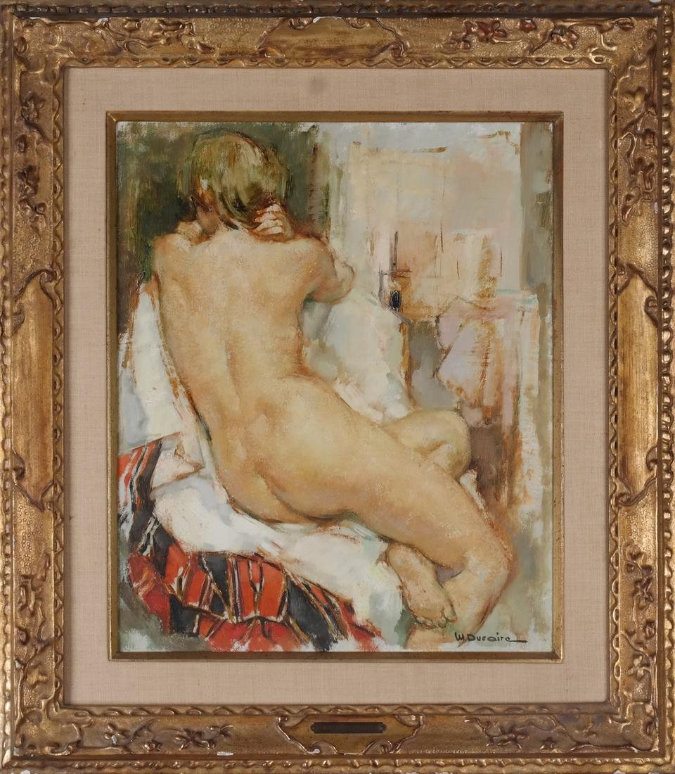 Maryse Ducaire: Seated Nude - Oil on Canvas