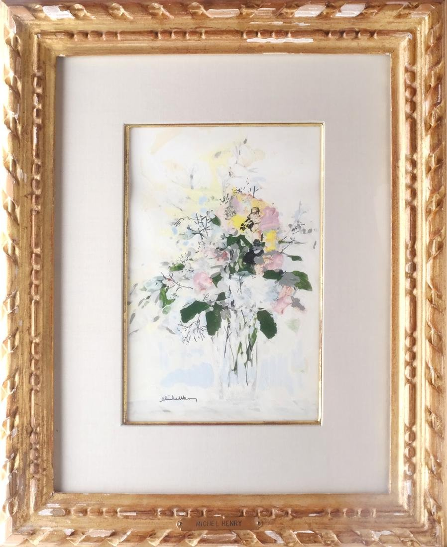 Michel Henry: Flowers, Watercolor - 2