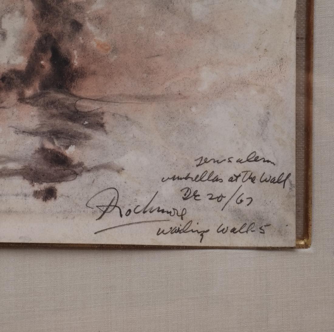 Noel Rockmore: Wailing Wall, Watercolor - 3
