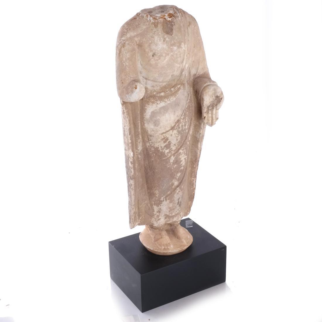Asian Stone Buddha Sculpture