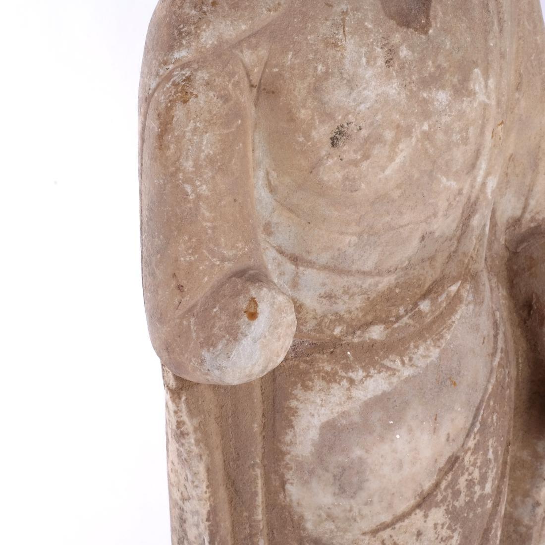 Asian Stone Buddha Sculpture - 4