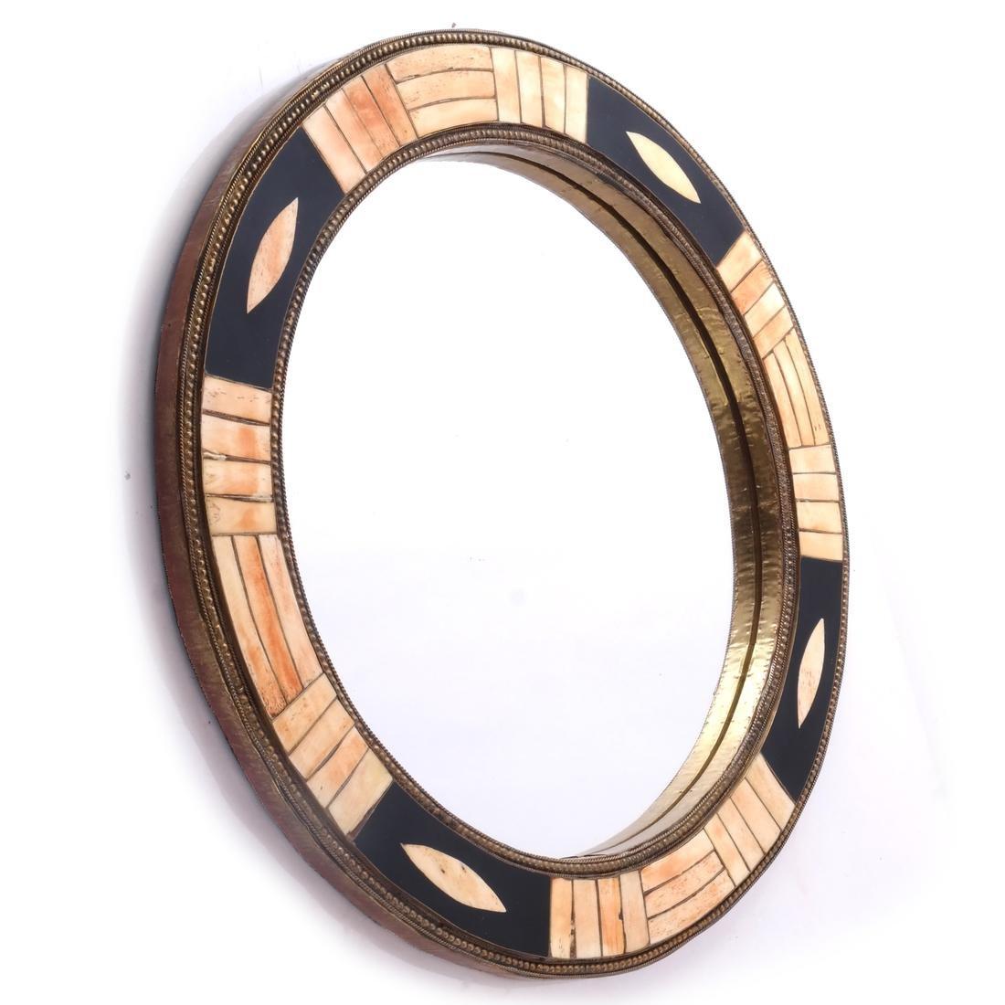 Tessellated-Style Circular Mirror