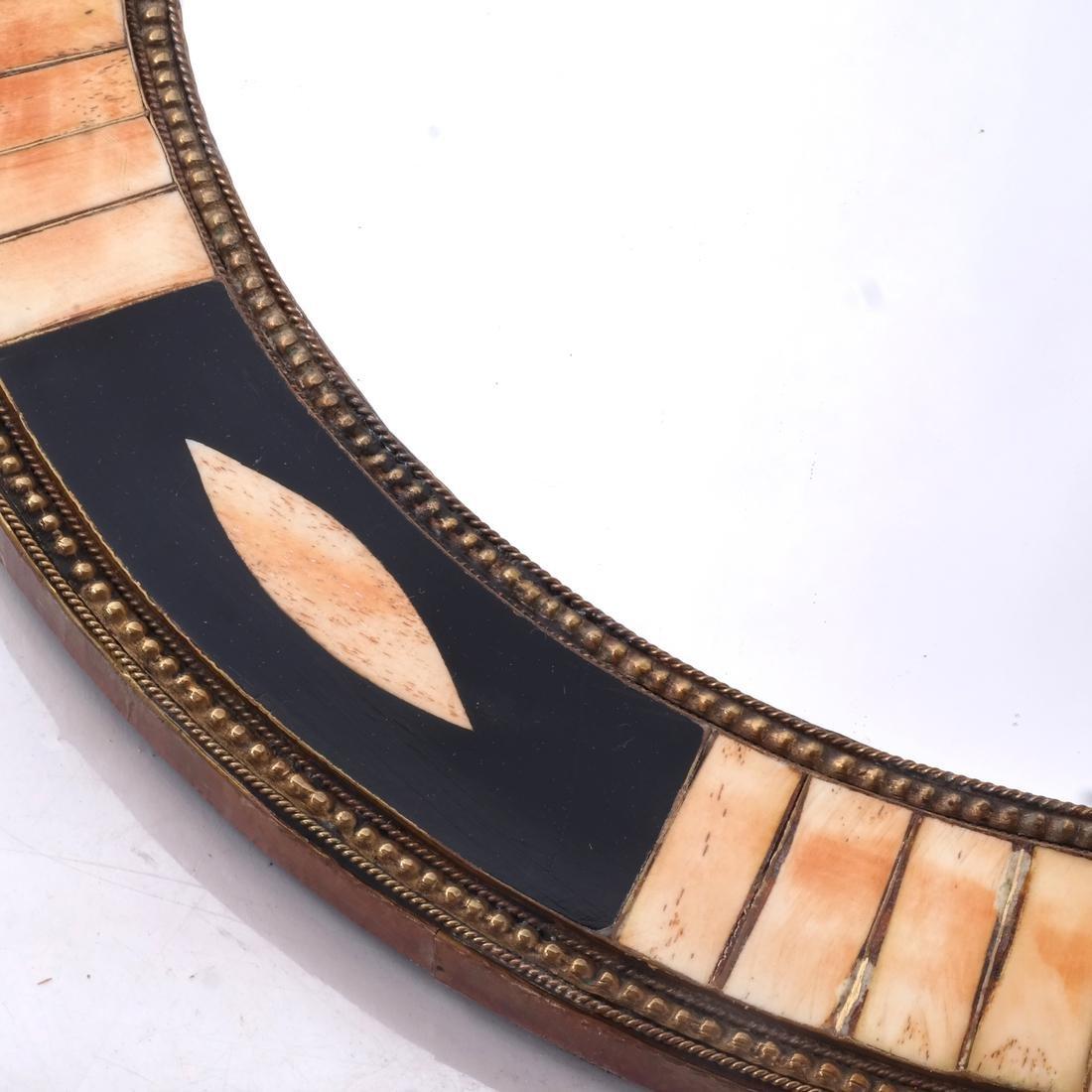 Tessellated-Style Circular Mirror - 2