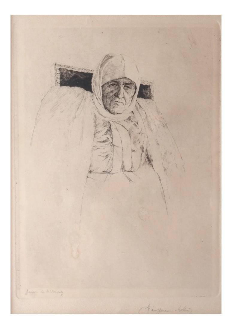 Drypoint Etching with Figure