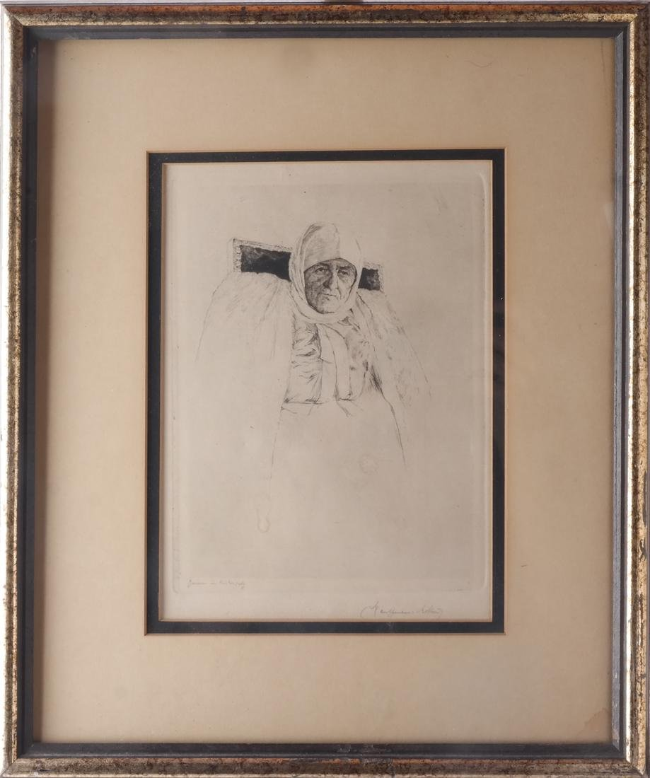 Drypoint Etching with Figure - 2