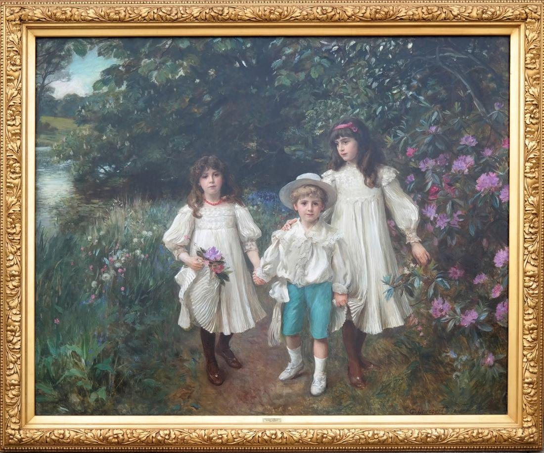 George Harcourt: Muriel, Cynthia and George - O/C