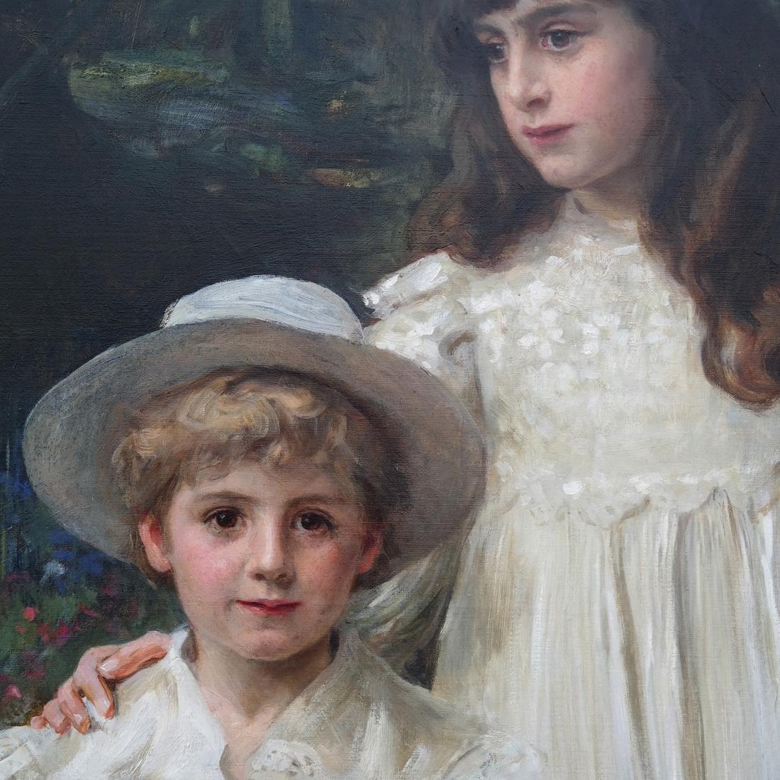 George Harcourt: Muriel, Cynthia and George - O/C - 5