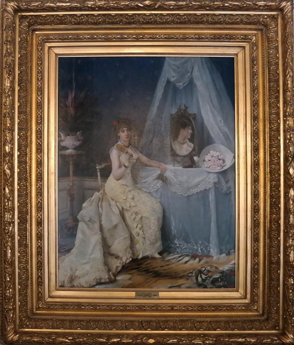 Gustave Leonard De Jonghe: A La Toilette