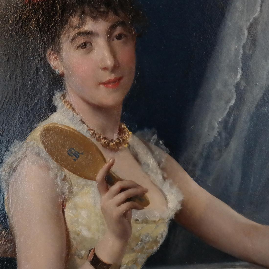 Gustave Leonard De Jonghe: A La Toilette - 4