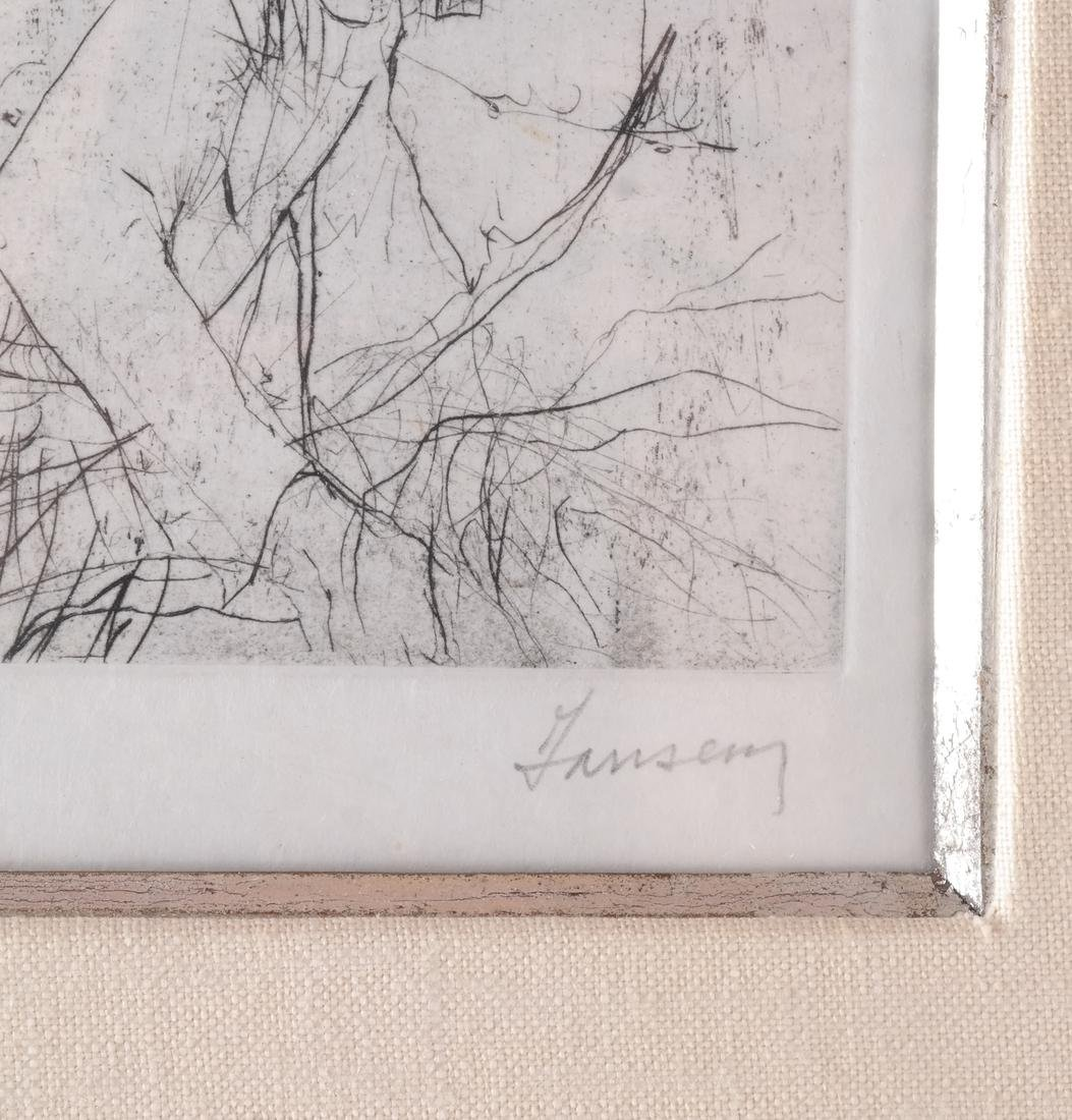 Jansen: Figure and Donkey, Litho - 3