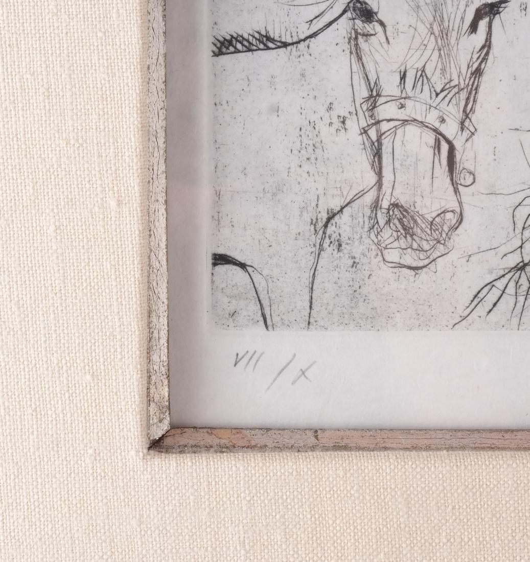 Jansen: Figure and Donkey, Litho - 4