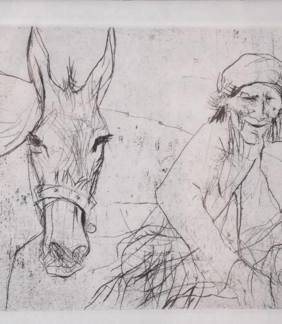 Jansen: Figure and Donkey, Litho - 5