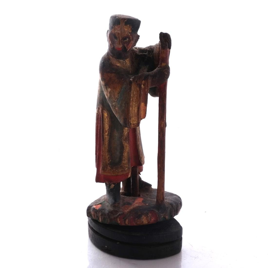 Chinese Wood Miniature Figure