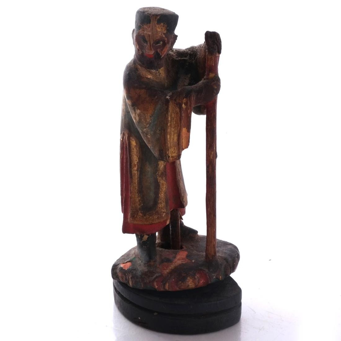 Chinese Wood Miniature Figure - 2