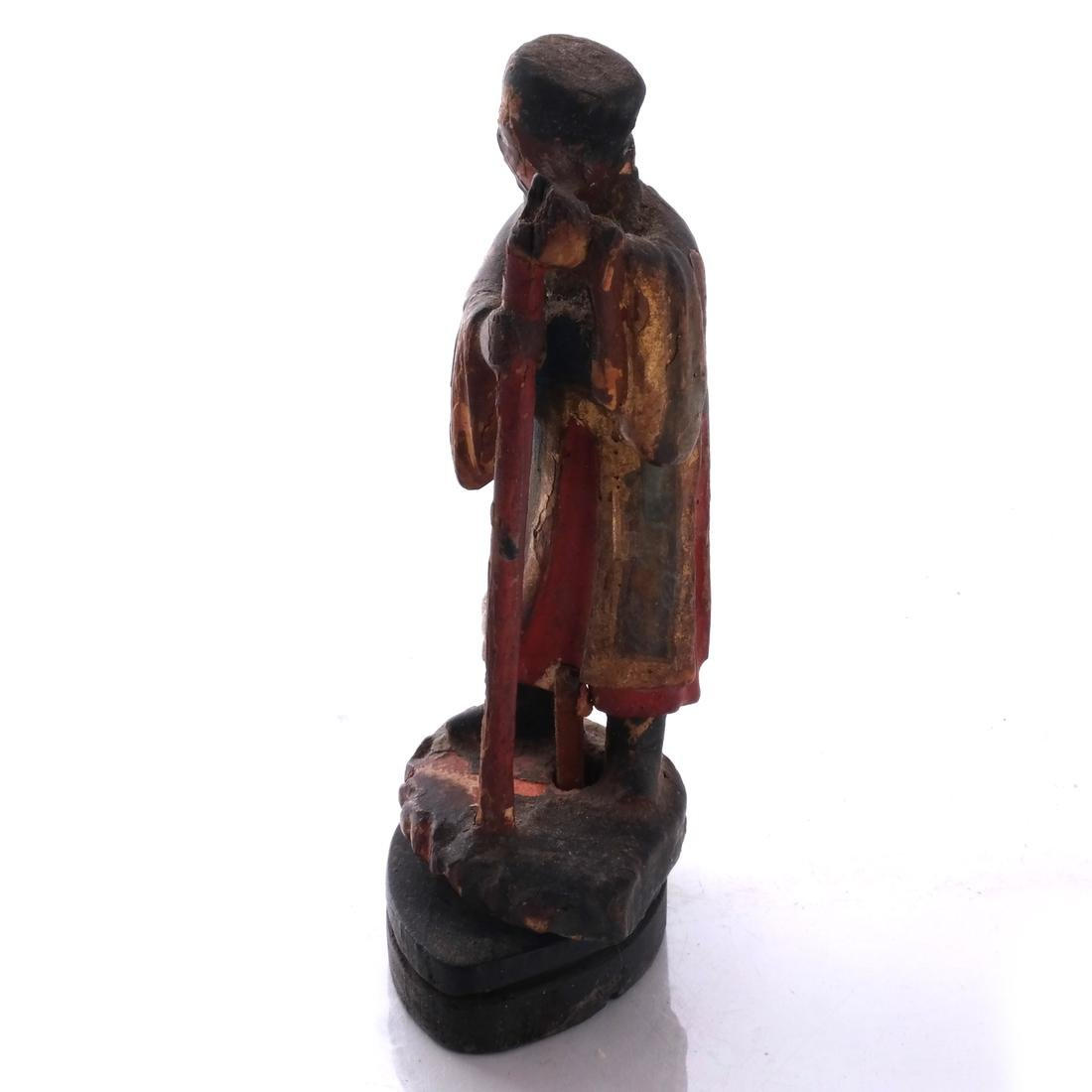 Chinese Wood Miniature Figure - 3