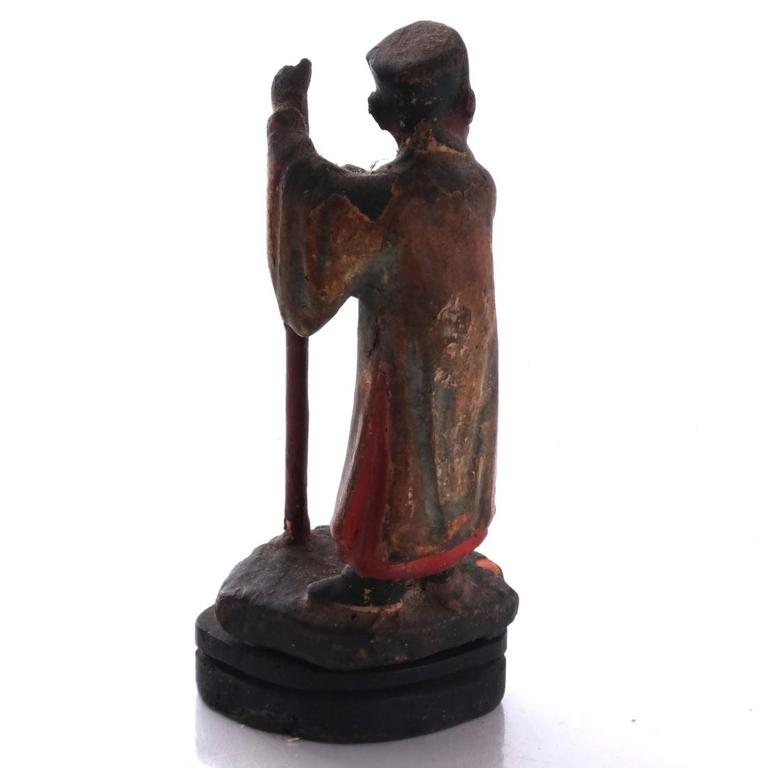 Chinese Wood Miniature Figure - 4